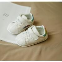 Buy cheap new style white baby shoes sport walking genuine leather shoes lovely pattern good quality from wholesalers