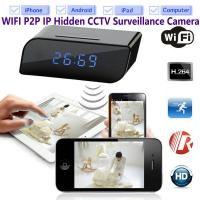 Quality T8S 720P Alarm Clock WIFI P2P IP Spy Hidden Camera Home Security CCTV Surveillance DVR with Android/iOS App Control for sale
