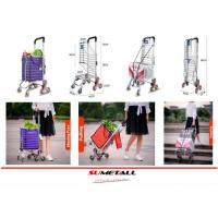 Buy cheap Aluminum folding shopping cart with stair climbing wheels for personal in supermarket, grocery store and farmer markets from wholesalers