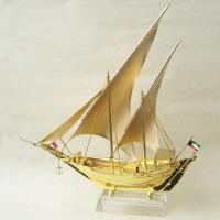 Buy cheap Business gift pure Golden Ship Model with with Zinc alloy / K9 crystal base from wholesalers
