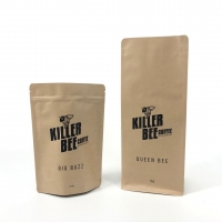 Buy cheap Flat Bottom Pouch Printed Kraft Paper Pouch With Top Zipper from wholesalers