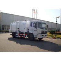 Buy cheap Kitchen Waste Collection Truck 6cbm , Sealed Discharge / Pushing Discharge from wholesalers