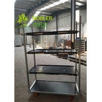 Buy cheap PVC Shelf Decorative Flower Cart Greenhouse Trolley Plant Cart Lightweight from wholesalers