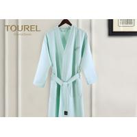 Buy cheap Pakistan Cotton Hotel Waffle Weave Robe Bright Green / White Spa Robe from wholesalers