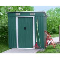 Buy cheap Color Board Metal Pent Shed , Waterproof Flat Roof Garden Shed For Tool 4X6 ' from wholesalers