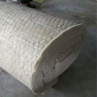 Buy cheap Rock wool blanket insulation with wire mesh for oven insulation from wholesalers