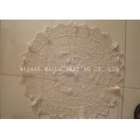 China Multigrids Crochet Doilies Cotton Crochet Round Tablecloths With Scallop Edge on sale