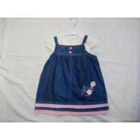 Buy cheap Strapped Infant Flower Girl Dress, Summer Baby Girl Jean Dresses With White Cotton T-Shirt from wholesalers