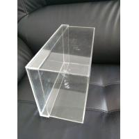 Buy cheap OEM Logo Printing Clear Acrylic Sneaker Shoes Box Display With Lids from wholesalers
