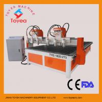 Buy cheap Multi-heads Wood CNC Engraving machine with Taiwan linear rail TYE-1820-2T3 from wholesalers