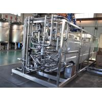 Buy cheap Milk Heating Dairy Processing Equipment 137-142℃ UHT Tubular Pasteurizer 8TPH from wholesalers
