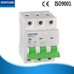 Buy cheap 3 Pole MCB Circuit Breaker Electrical Micro Circuit Breaker Din Rail IEC60898 Standard product