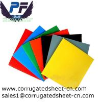 Buy cheap 2-12mm waterproof white/black/yellow/green polypropylene corrugated plastic sheets for packing and printing industry from wholesalers