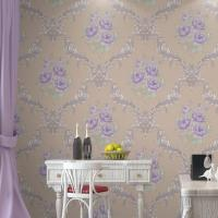 Buy cheap Eco-friendly High quality Moisture proof cheap price flowers style PVC vinyl wall paper product