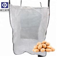 Buy cheap Big Breathable Mesh FIBC Bulk Bags Open Top Closed Bottom For Onion / Potato from wholesalers