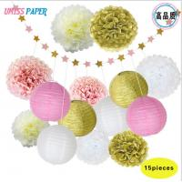 Buy cheap Birthday party, wedding decoration items, set paper ball, paper string, paper lantern 15 combinations of a box from wholesalers