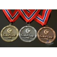 Buy cheap Noway Country Large Award Medals Recessed With Texture Antique Gold Silver Copper Plating from wholesalers