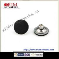 Buy cheap Alloy jeans 20MM Matt Black plastic inside round and smoth button from wholesalers