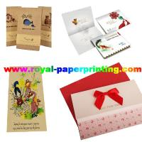 Buy cheap customize die cutting and colorful postcard/wedding card/thank you  card from wholesalers