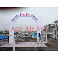 Buy cheap Customized White Angle Inflatable Finish Line Arch With LOGO Same Both Front and Back for Ausrtalia from wholesalers