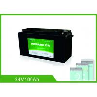 Buy cheap 24V 100AH Deep Cycle Lithium Battery , UPS Rechargeable Lifepo4 Battery Bluetooth from wholesalers
