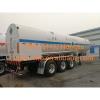 Buy cheap 23.4 m3 26.7 tons Cryogenic Transportation Semi-trailer 26m3 liquid oxygen tank transport trailer from wholesalers