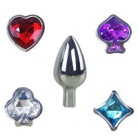Buy cheap 4 Styles Poker Detachable Jewelry Butt Plug Erotic Toys Metal Anal Plug Butt Plug Beads Adult Sex Toys for Beginner from wholesalers