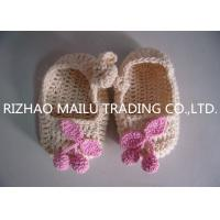 Buy cheap Khaki Crochet Baby Boat Shoes / Pink Cherry Accessories Knitted Baby Girl Shoes from wholesalers