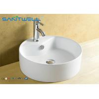 Buy cheap Basin Above Counter Mounting Ceramic Vanity Hand Wash Basin 410*410*145mm from wholesalers