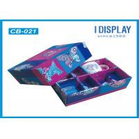 Recycled Cardboard Tea Cup Colored Gift Boxes Varnish Coating With Lids