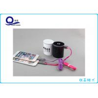 Buy cheap Cylinder Four In One USB Travel Plug Adapters & Voltage Converter With Lighting Logo from wholesalers