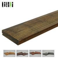 Outside Good Quality Deep Carbonized Outdoor Glossy Bamboo Floor Decking