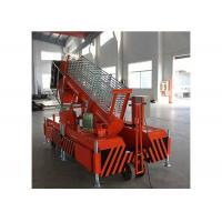 Buy cheap Orange Hydraulic Work Platform Steel Structure For Modern Workshops ISO 9001 Approved from wholesalers