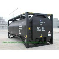 Buy cheap UN T3 Heating 20 Foot ISO Tank Container For Bitumen / Crude Oil / Low Hazardous Liquids from wholesalers