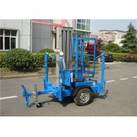 Buy cheap Vertical Trailer Mounted Man Lift , Single Mast Trailer Boom Lift For Window Cleaning from wholesalers