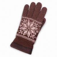 Buy cheap 100% Acrylic Knitted Gloves with Jacquard Pattern product
