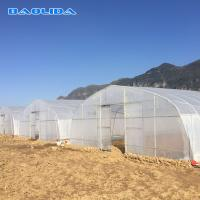 Buy cheap Hot Dip Galvanized Steel 4m Tunnel Plastic Greenhouse from wholesalers