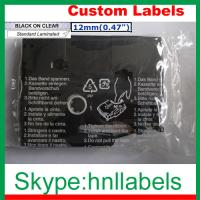 Buy cheap Black on Clear Label Tape Compatible for Brother TZ-131 TZe-131 P-Touch 12mm*8m from wholesalers