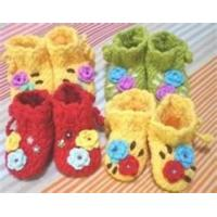Buy cheap Crochet hook lovely Hand crochet DIY baby shoes knitted baby products Indoor from wholesalers