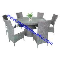 Buy cheap outdoor garden round wicker dining rattan furniture set RLF-08188890 from wholesalers