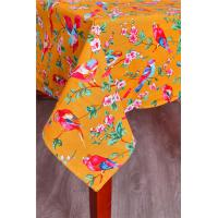 Orange Custom Printed Tablecloths Machine Washable For Home Kitchen Table