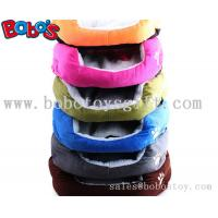 China Colorful Warm Plush Material Pet Bed Puppy Dot Cat Bed With Paw Embroidery on sale