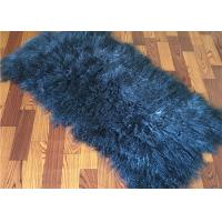 Buy cheap 2 *4' Navy Blue Mongolian Fur Throw Blanket , Large Sofa Throws Anti Wrinkle from wholesalers