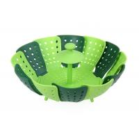 Buy cheap Home Kitchen Silicone Steamer Basket , Folding Non Scratch Silicone Vegetable Steamer from wholesalers