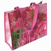 Buy cheap Promotional Laminated PP Woven Shopping Bag with Glossy or Matte Lamination  product