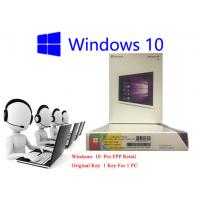 Buy cheap 32bit / 64bit Windows 10 FPP Retail Box Korean International PC 3.0 USB Online Activation from wholesalers