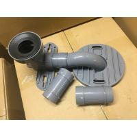 Gray PVC Toilet Siphon Tube , Toilet Drain Fittings Washroom Appliance Connector