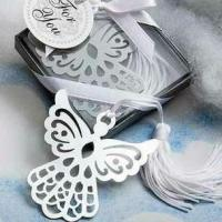 """Buy cheap Angel """"silver-metal bookmark with White silk Tassel from wholesalers"""
