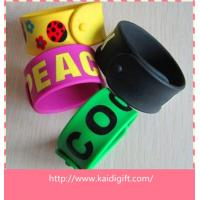 Buy cheap Customized colorful logo steel panel snap wristband for holiday from wholesalers