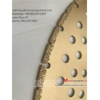 Buy cheap vacuum brazed diamond saw blades for cutting Marble etc. miya@moresuperhard.com from wholesalers